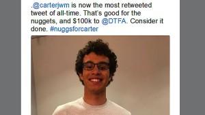 Ein Teenager bricht den Twitter-Rekord
