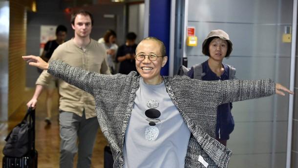 Witwe des Friedensnobelpreisträgers Liu Xiaobo in Berlin eingetroffen