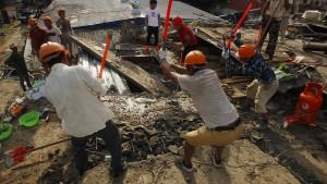 Bauarbeiter im Schlaf überrascht