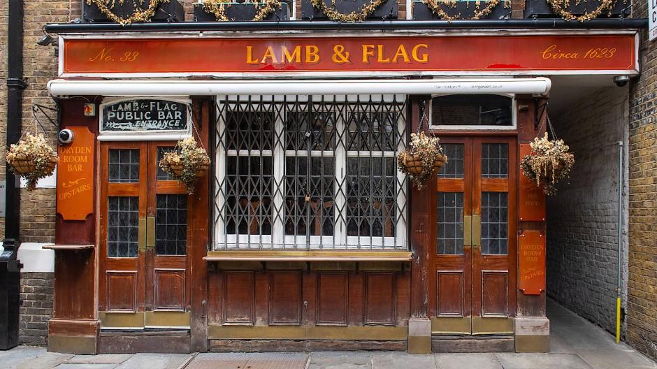 Verrammelt und verriegelt: Das Lamb & Flag in London (Symbolbild)