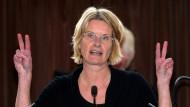 Oberbürgermeisterin Susanne Gaschke vor der Kieler Ratsversammlung am 19. September