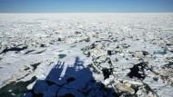 Gebrochenes Meereis in der Arktis