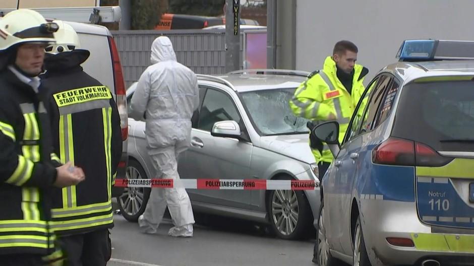 Der Tatort der Auto-Attacke in Volkmarsen