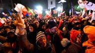 Demonstranten blockieren Parlament in Polen