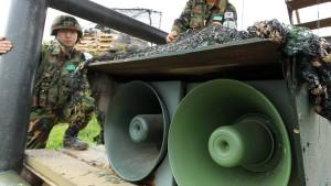 Die teuren schwachen Propagandalautsprecher in Korea