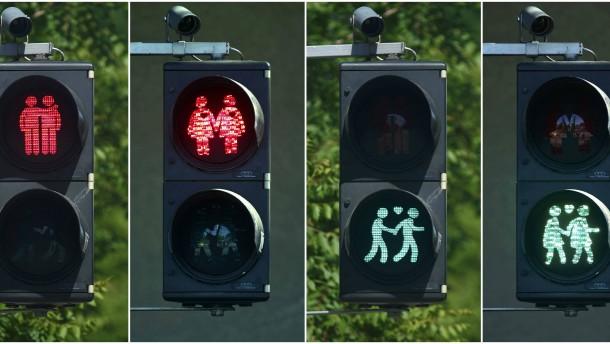 In Wien gibt es jetzt auch schwule Ampelmännchen