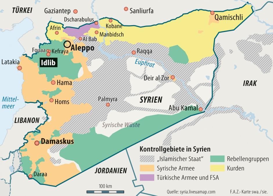 Aktuelle Syrien Karte