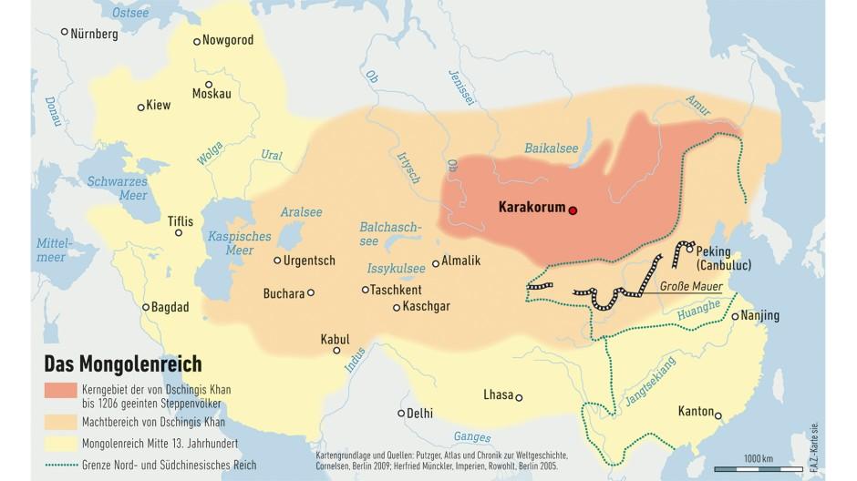 Das größte Steppenimperium wurde von einem Volk errichtet, das gerade mal so zahlreich war wie die Einwohner der Stadt Freiburg heute. Die politischen Folgen der mongolischen Vorherrschaft in Asien und Europa waren enorm.