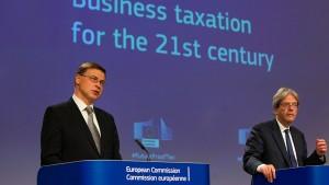 EU-Kommission für höhere Steuersätze