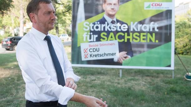 CDU in Sachsen deutlich vor AfD