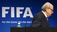 Joseph Blatter am Dienstag in der Fifa-Zentrale in Zürich