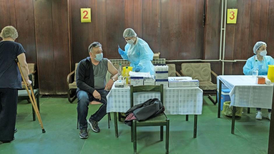 Corona-Impfzentrum im serbischen Nis