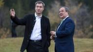 Wer macht das Rennen? Markus Söder (CSU) und Armin Laschet (CDU)