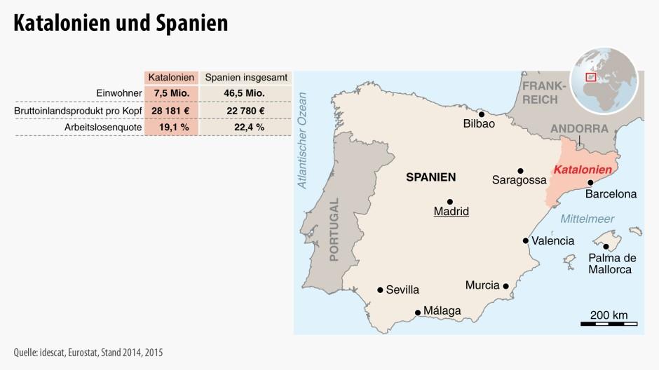Spanien Katalonien Karte.Bilderstrecke Zu Katalonien Schlechte Nachrichten Für Spanien