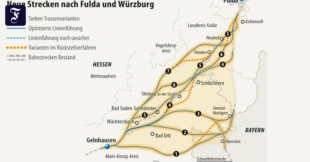 Landkreis Würzburg Karte.Bahnprojekte In Der Rhein Main Region Kommen Voran