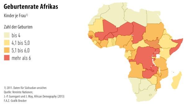 Infografik / Geburtenrate Afrikas