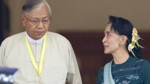 Vertrauter von Suu Kyi ist erster ziviler Präsident seit Jahrzehnten