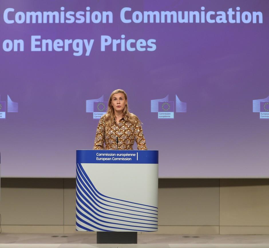 EU-Energiekommissarin Kadri Simson am Mittwoch in Brüssel
