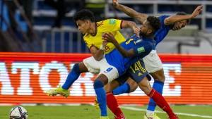 Remis gegen Kolumbien: Brasiliens Siegesserie gerissen