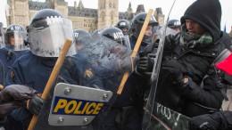 Zusammenstöße bei Protesten gegen UN-Migrationspakt