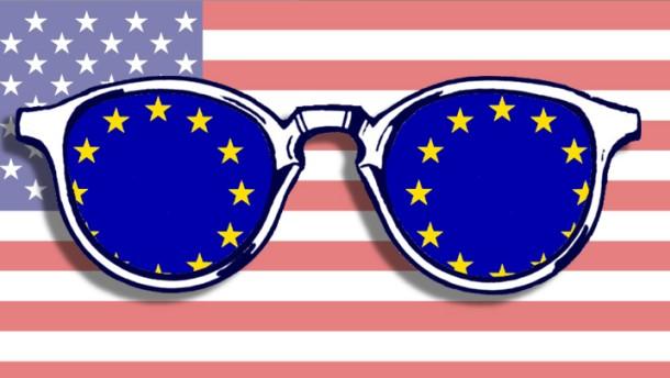 Illustration / durch die amerikanische Brille