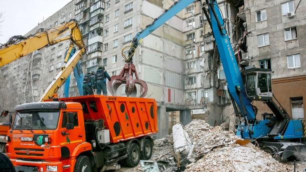 Bergungsarbeiten nach Gasexplosion in Russland beendet