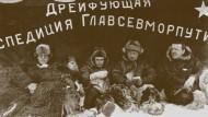 """Auf der Eisdriftstation """"Nordpol 1""""  im Jahr 1938"""