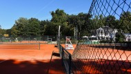 Goldene Zeiten: der Platz des Bad Homburger Tennisclubs mit Blick auf die Thai Sala