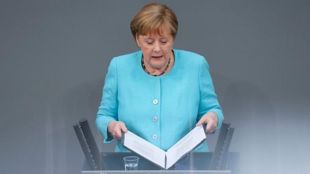 Merkels vermutlich letzte Rede im Bundestag