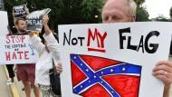 Amerikaner streiten über die Flagge der Südstaaten