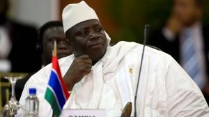 Jammeh kündigt Rücktritt an