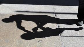 Schattenriss Vater und Kind