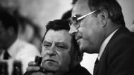 Alphatiere: Am Ende erwies sich Helmut Kohl (r) Franz Josef Strauß (l) überlegen.