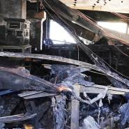 """Die Ruine des weitgehend aus Holz gebauten mehrstöckigen Hauses des drei-Sterne-Restaurants """"Schwarzwaldstube"""""""