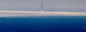 Eine Rakete von SpaceX hebt ab.