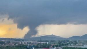 Wirbelsturm zieht über nordostchinesische Provinz