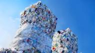 Gesammelte Kunststoff-Verpackungen zur Weiterverwertung