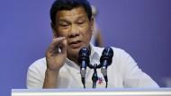 Der philippinische Staatschef Duterte: mindestens so ausfällig und unbeherrscht wie Donald Trump