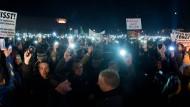 """Pegida""-Demonstration in Dresden am 08.12..2014."