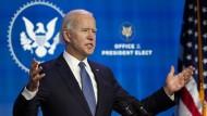 Spendabler Präsident: Joe Biden will der angeschlagenen Wirtschaft auf die Sprünge helfen.