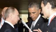 Obama und Putin sprechen über aktuelle Krisen