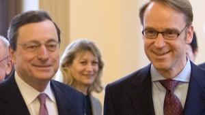 Duell der  Notenbanker