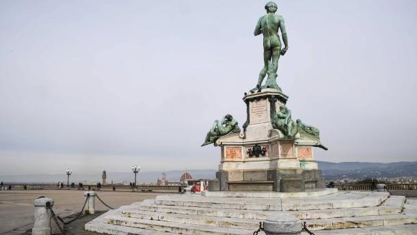 Menschenleeres Florenz