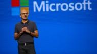 Build-Konferenz: Satya Nadella bei Bekanntgabe der Pläne von Microsoft in den nächsten Monaten