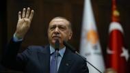 Der türkische Präsident Erdogan hat abermals vom Verlieren gesprochen.
