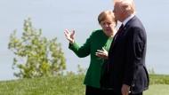Angela Merkel und Donald Trump beim G-7-Gipfel in Kanada.