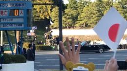 Tausende Menschen wollen Kaiser Naruhito sehen