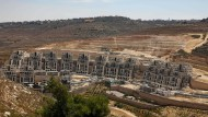 Baustelle in der israelischen Siedlung Givat Zeev im besetzten Westjordanland nördlich von Jerusalem am 31. Juli 2019