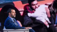 Italiens Innenminister Matteo Salvini am Mittwoch als Gast in einer Fernsehsendung