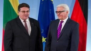 Litauen ist gegen Steinmeiers Plan für ein Rüstungslimit